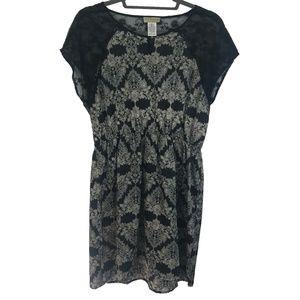 Moon Collection Black Floral Lace Dress
